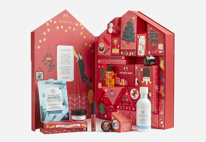 Le calendrier de l'Avent 2020 The Body Shop classique
